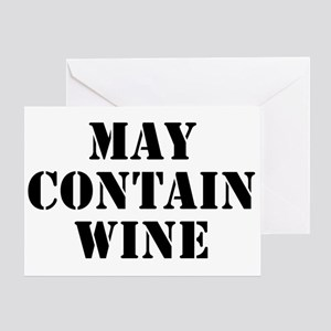 May Contain Wine Greeting Card