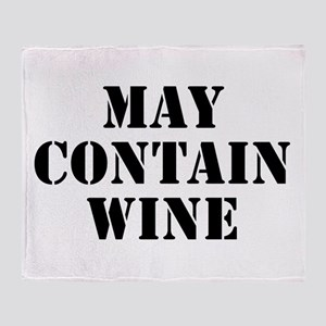 May Contain Wine Throw Blanket