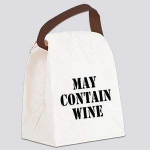 May Contain Wine Canvas Lunch Bag