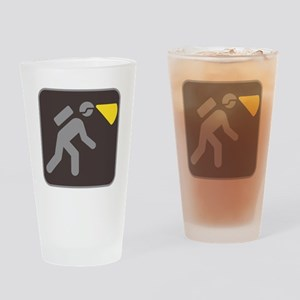 Caving Spelunking Potholing Drinking Glass