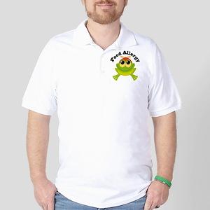 Food Allergy Frog Golf Shirt