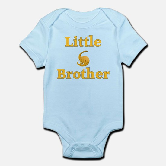 Little Brother Yellow Dinosaur Infant Bodysuit