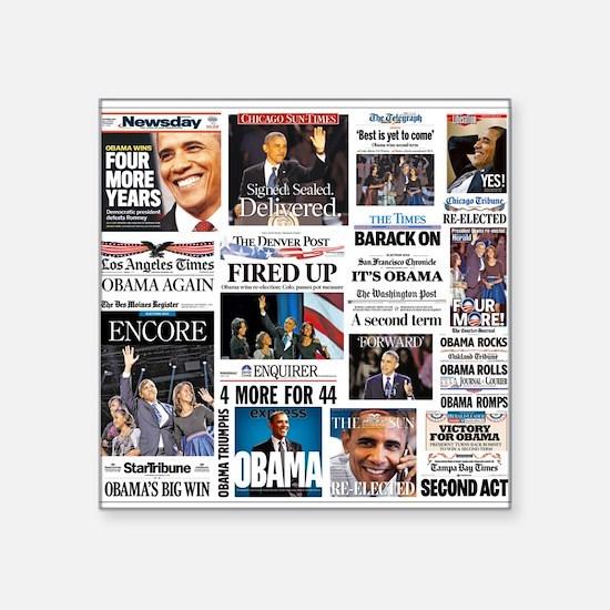 """Obama Inauguration Square Sticker 3"""" x 3"""""""