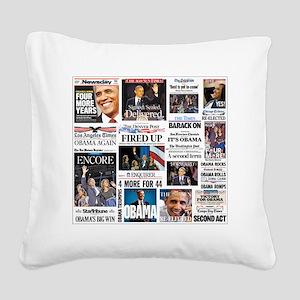 Obama Inauguration Square Canvas Pillow