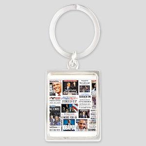 Obama Inauguration Portrait Keychain