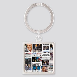 Obama Inauguration Square Keychain
