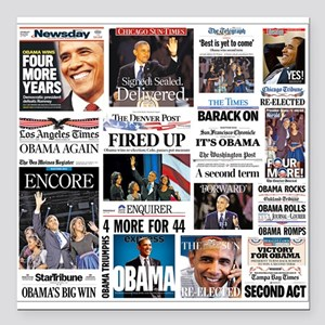 "Obama Inauguration Square Car Magnet 3"" x 3&a"