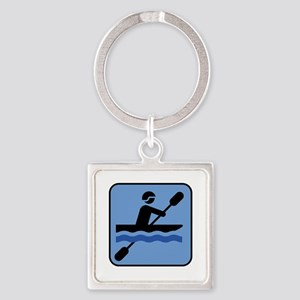 Kayak - Kayaking Square Keychain