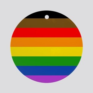 Philadelphia pride flag Round Ornament
