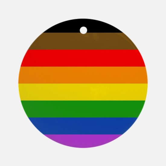 Philadelphia pride flag Round Ornament