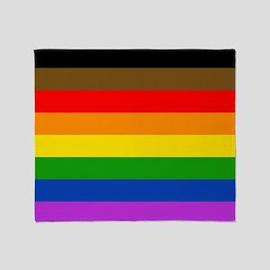 Philadelphia pride flag Throw Blanket