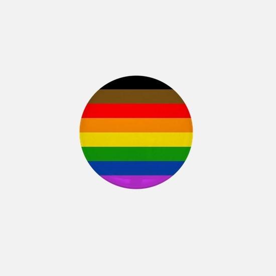 Philadelphia pride flag Mini Button (10 pack)