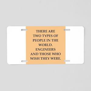 engineers Aluminum License Plate