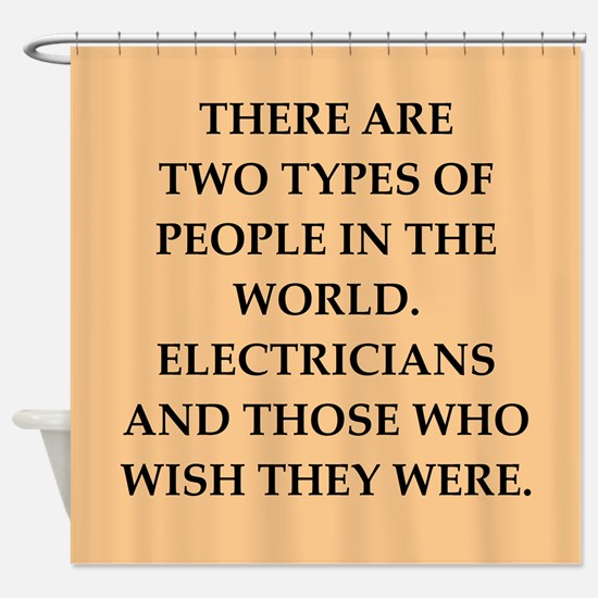 electrician Shower Curtain