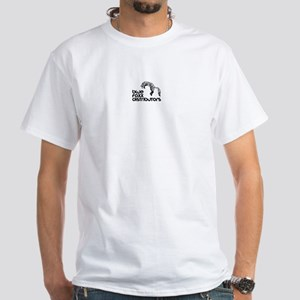 Blue Fox Distributors Logo White T-Shirt