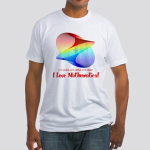 I Love Mathematics Fitted T-Shirt