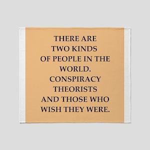 conspiracy Throw Blanket