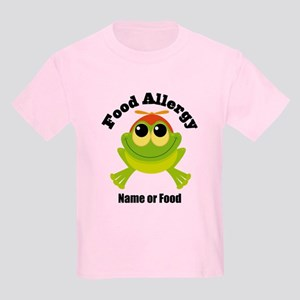 Personalized Food Allergy Frog Kids Light T-Shirt