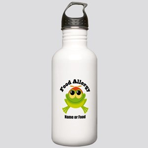 Personalized Food Allergy Frog Stainless Water Bot