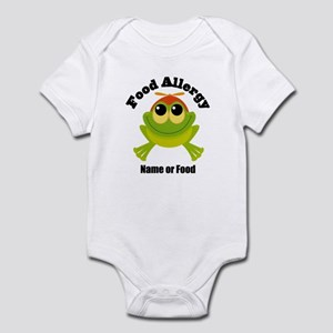 Personalized Food Allergy Frog Infant Bodysuit
