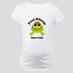 Personalized Food Allergy Frog Maternity T-Shirt
