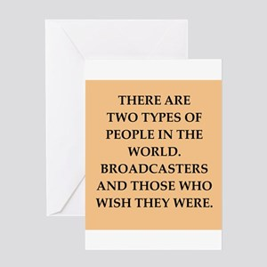 broadcaster Greeting Card