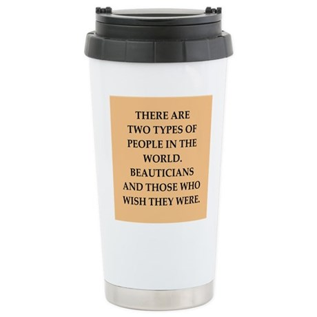 beautician Stainless Steel Travel Mug