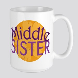 Middle Sister Purple Orange Large Mug