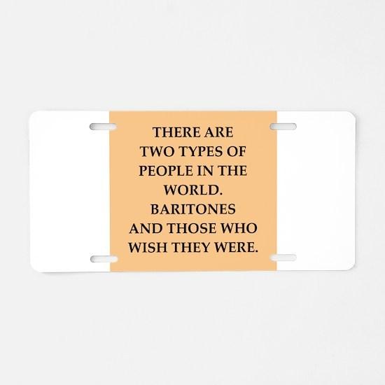 baritone Aluminum License Plate
