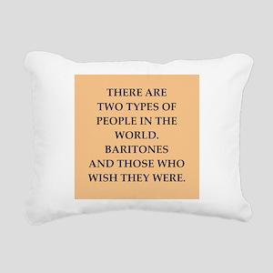 baritone Rectangular Canvas Pillow