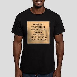 baritone Men's Fitted T-Shirt (dark)