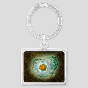 Herpes virus particle, TEM - Landscape Keychain