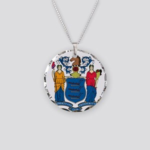 Great Seal of New Jersey Necklace Circle Charm