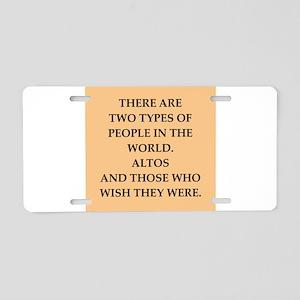 ALTOS Aluminum License Plate