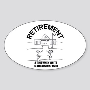 DIAPER DAN RETIREMENT LOOK Oval Sticker