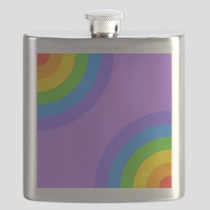 Colorful Abstract Pattern. Flask