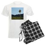 Farmer Crossing Sign Men's Light Pajamas