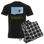 Farmer Crossing Sign Men's Dark Pajamas
