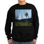 Farmer Crossing Sign Sweatshirt (dark)