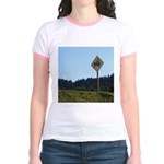 Farmer Crossing Sign Jr. Ringer T-Shirt