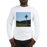 Farmer Crossing Sign Long Sleeve T-Shirt