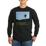 Farmer Crossing Sign Long Sleeve Dark T-Shirt