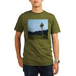 Farmer Crossing Sign Organic Men's T-Shirt (dark)