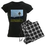 Farmer Crossing Sign Women's Dark Pajamas