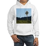 Farmer Crossing Sign Hooded Sweatshirt