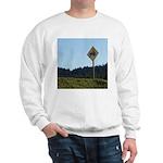 Farmer Crossing Sign Sweatshirt