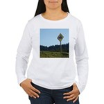 Farmer Crossing Sign Women's Long Sleeve T-Shirt