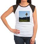 Farmer Crossing Sign Women's Cap Sleeve T-Shirt