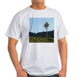Farmer Crossing Sign Light T-Shirt