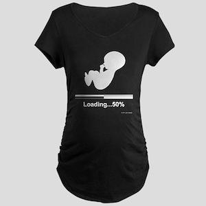 Baby Buffering...50% Maternity Dark T-Shirt